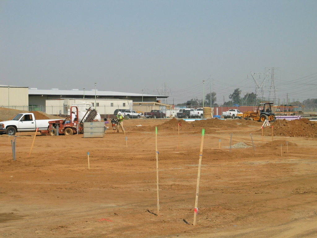 A photo from when the training facility was under construction.