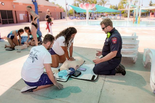 CPR Training with Lifeguards