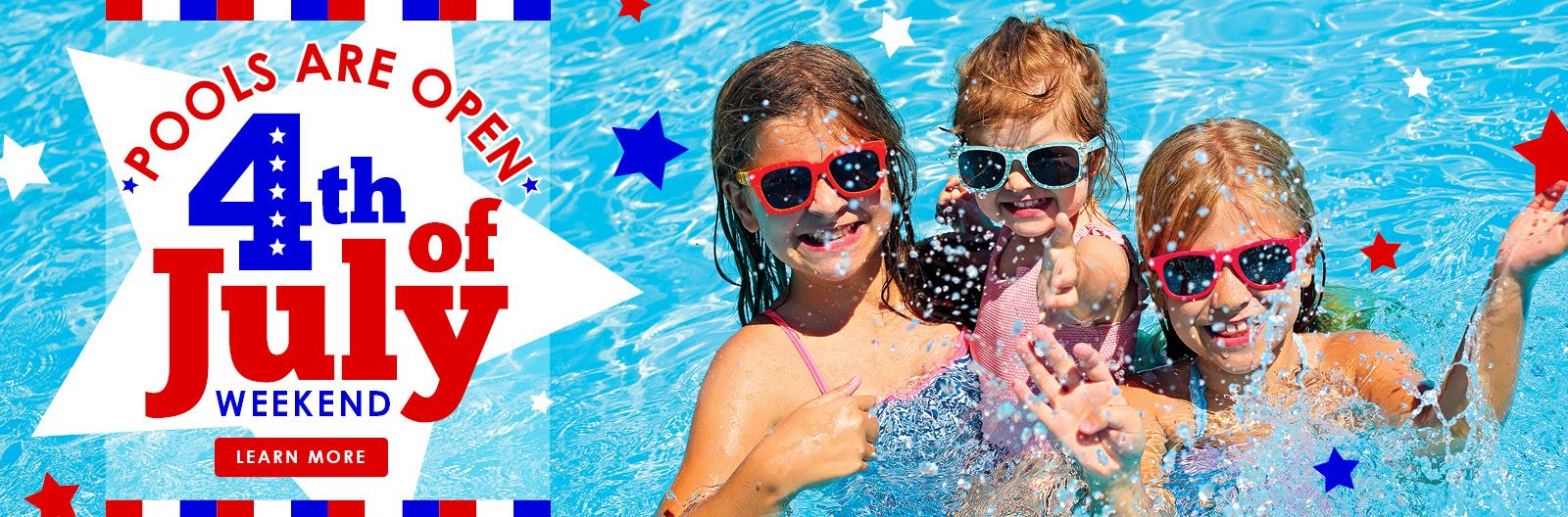 Pools Open Fourth of July Weekend