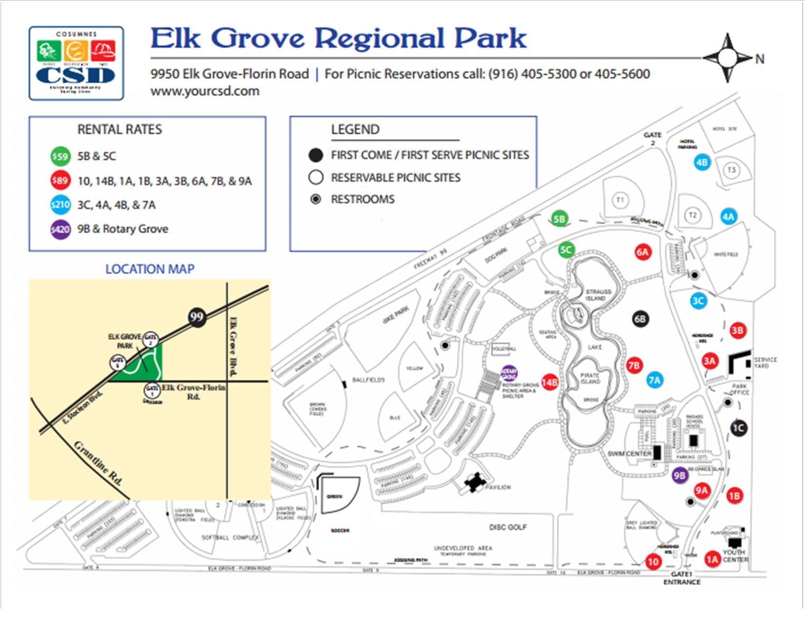 Elk Grove Park Map