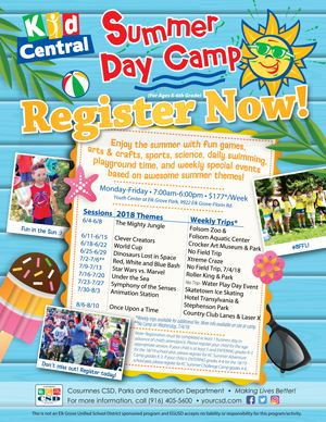 2018 Kid Central Summer Camp Flier