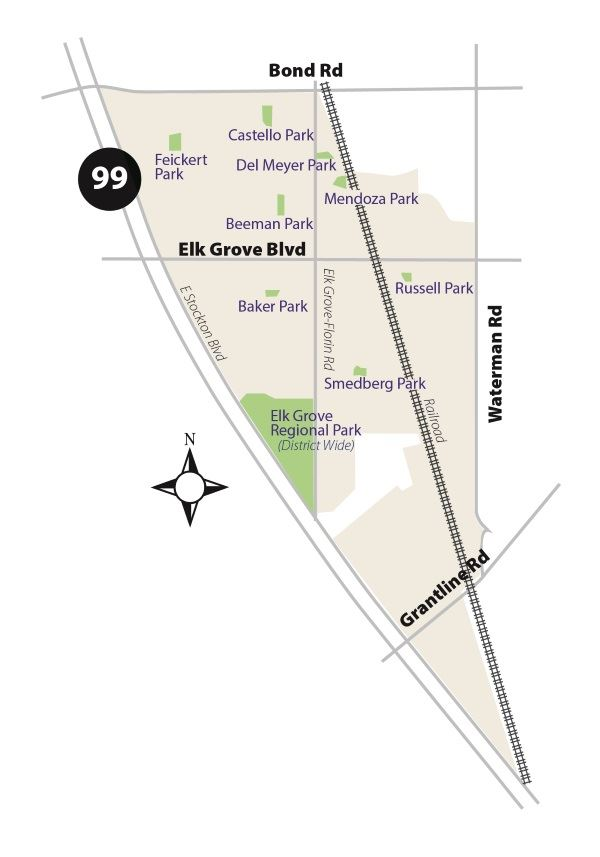 Benefit Zone 6 Map - Central Elk Grove Thumbnail
