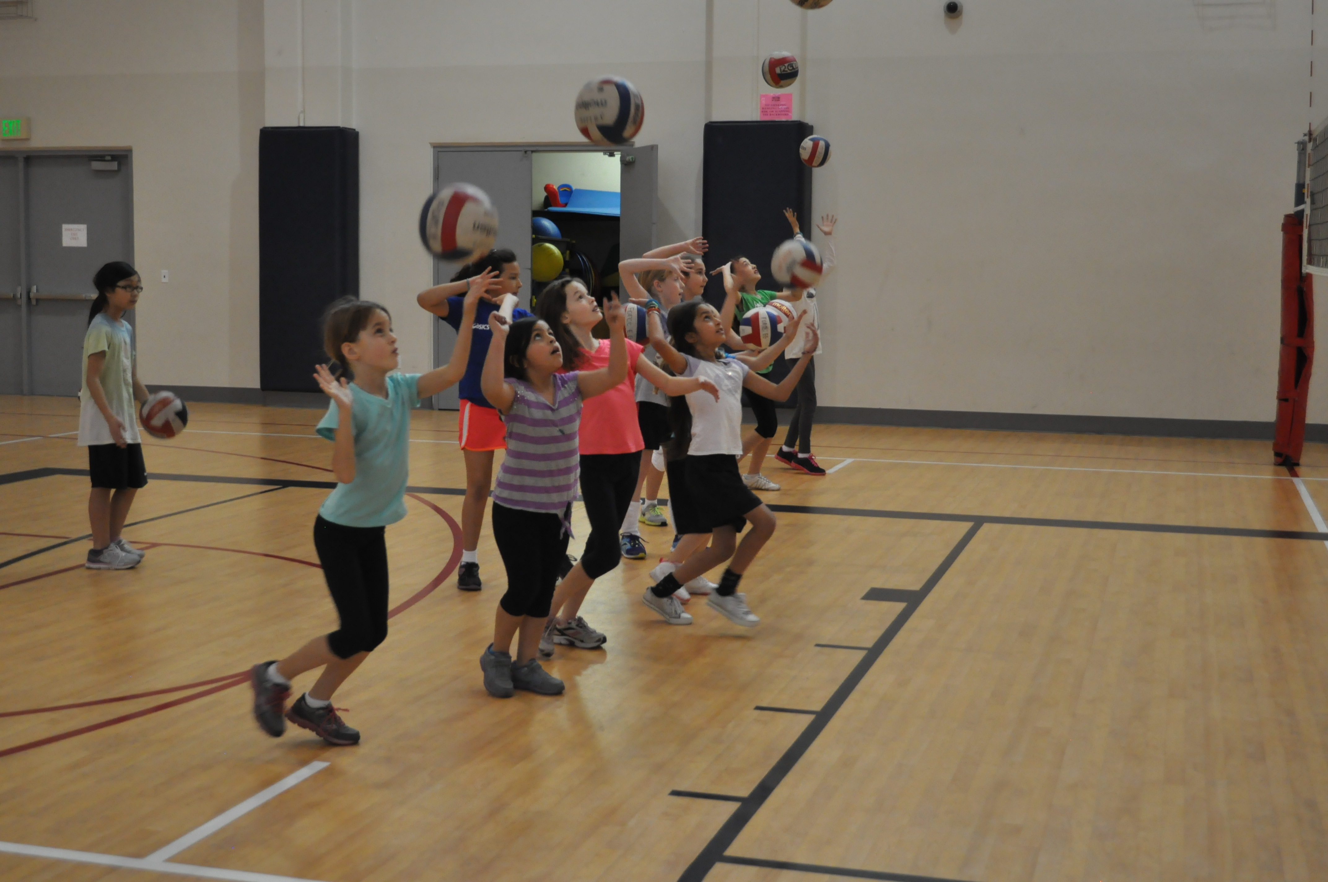 Kids Participating in a Basketball Camp